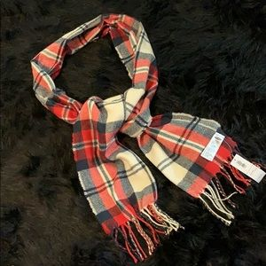Old Navy Red, Cream & Blue Scarf OS